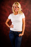 Casual Blonde Woman Fashion Model Royalty Free Stock Images
