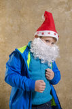 Casual boy with Santa costume Stock Photo