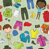 Casual boys clothes pattern Stock Photos