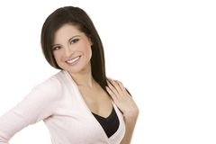 Casual brunette Royalty Free Stock Photos