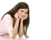 Casual brunette Royalty Free Stock Photo