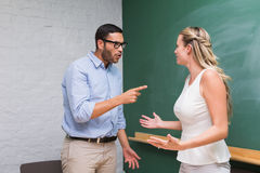 Casual business colleagues in an argument Stock Image