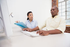 Casual business colleagues having an argument Royalty Free Stock Photography