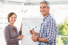 Casual business colleagues preparing presentation Stock Images
