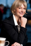 Casual business lady posing in style Royalty Free Stock Image