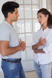 Casual business partners having a conversation Royalty Free Stock Photo