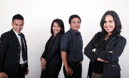 Casual business people. Group of asian casual business people Stock Photo