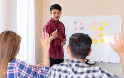 Casual business people taking business training conference. Casual business people are taking business training conference stock photos