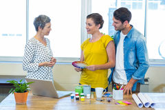 Casual business team having meeting Stock Image
