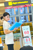 Casual business woman at airport Royalty Free Stock Images