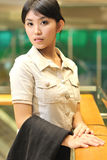 Casual business woman portrait at airport Stock Images