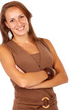 Casual business woman smiling Royalty Free Stock Photography