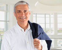 Casual Businessman in Office Stock Images