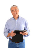 Casual Businessman with Tablet Computer Royalty Free Stock Image