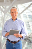 Casual Businessman with Tablet Computer Stock Photos