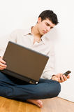 Casual businessman working Stock Photo