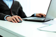 Casual businessman working on laptop Royalty Free Stock Photo