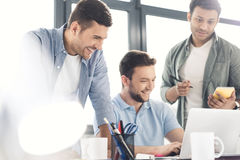 Casual businessmen working on new project at modern office. Business teamwork Stock Photo