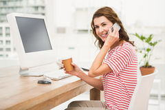 Casual businesswoman having a phone call Stock Photos