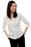 Casual businesswoman looking away Royalty Free Stock Images