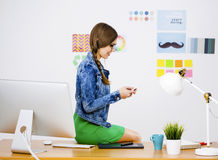 Casual businesswoman Stock Image