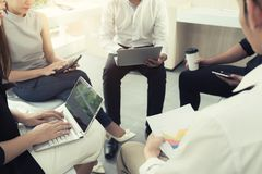 Casual Busniess People Meeting At Modern Office. Business Team C Stock Photo
