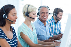 Casual call centre workers in the office Stock Images