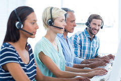 Casual call centre workers in the office Royalty Free Stock Photography