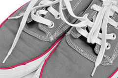 Casual canvas sneakers Stock Photography