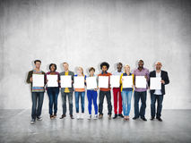 Casual Cheerful Ethnicity Occupation Team Teamwork Togetherness. Concept Stock Photos