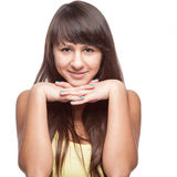 Casual cheerful girl Stock Photography