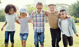 Casual Children Cheerful Cute Friends Kids Joy Concept Royalty Free Stock Photo