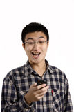 Casual chinese man smiling Royalty Free Stock Photography