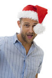 Casual Christmas Man Stock Photography