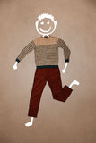 Casual clothes with hand drawn funny character Stock Images