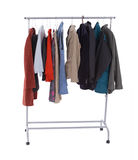 Casual clothes on hanger Stock Images