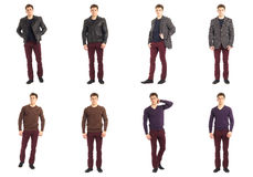 Casual clothing concept - same model in different style clothes Royalty Free Stock Image