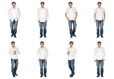 Casual clothing concept - same model in different style clothes Stock Image