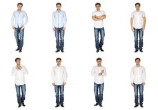 Casual clothing concept - same model in different style clothes Stock Photo