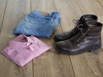 Casual clothing outfit Royalty Free Stock Photos