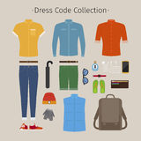 Casual clothing set Royalty Free Stock Image