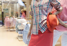 Casual clothing store Stock Images