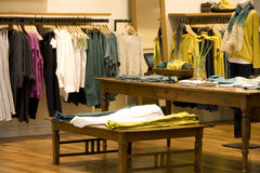 Woman fashion clothing store Royalty Free Stock Photos