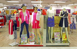 Casual clothing for women on mannequins Stock Photos