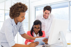 Casual colleagues working hard together Royalty Free Stock Photo