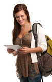 Casual College Student Holding Touchpad Royalty Free Stock Images