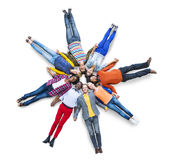 Casual Community Lying Diverse Ethnic Togetherness Concept Stock Images