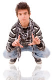 Casual cool young guy Royalty Free Stock Photography