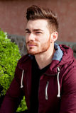 Casual cool young man with beard Royalty Free Stock Photos
