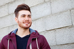 Casual cool young man with beard Stock Photo
